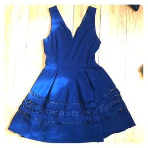 Dresses & Skirts - Navy blue sundress with lace detail
